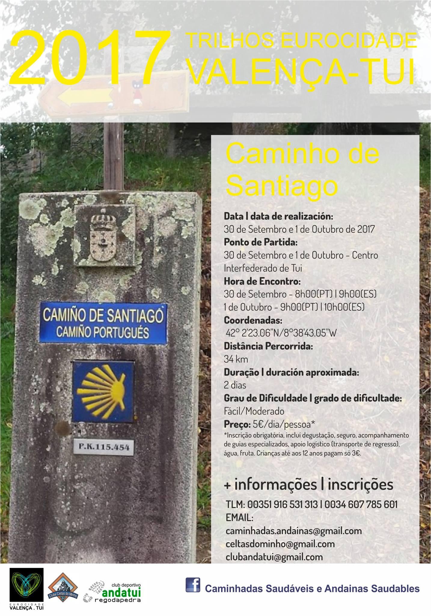 Caminho de Santiago 30/09/2017 e 01/10/2017
